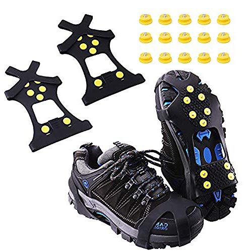 Empuñaduras de hielo para nieve, antideslizantes para invierno, para caminar, jugar en...