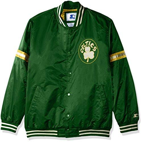 STARTER Adult Men NBA Legecy Retro Satin Jacket Boston Celtics, 6X, Green