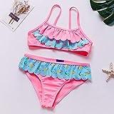 Daoyou Girls, 2 Stück, für 1-6 Jahre, für Mädchen, Bikini, Set Baby Little Mermaid Swimwear, 86 – 92 cm.