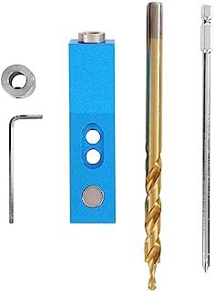 Mini Kreg Jig Kit, Herramienta de Localización de Carpintería de Broca de Agujero de Fijación Vertical Recta