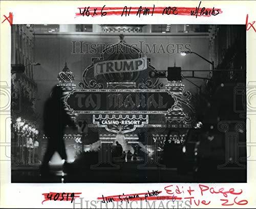 Historic Images - 1992 Press Photo Trump Taj Mahal Casino Resort in Atlantic City - noa18844