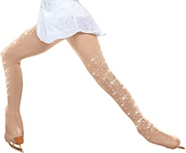 ChloeNoel Figure Skating Over The Boot Tights with Crystals on Both Legs TB8832
