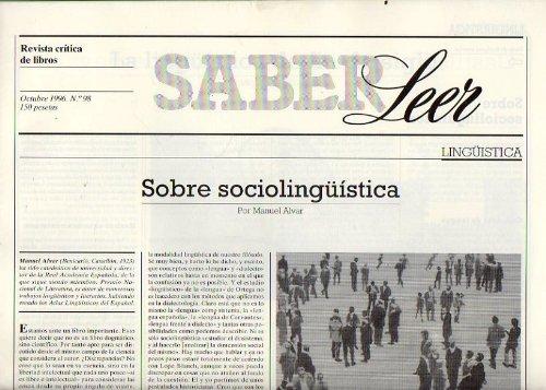 SABER LEER. Revista Crítica de Libros. Nº 98. Manuel Alvar: