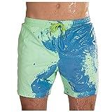 Rcinodhilary Lustige farbwechselnde Badehose Temperaturempfindliche Sommerbadebekleidung Badehose Shorts zum Schwimmen