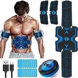 KEAWEO Electroestimulador Muscular Abdominales, EMS Estimulador Estimulación ABS Muscular...