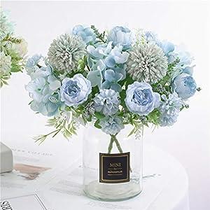 HZAMING – Ramo de Flores Artificiales pequeñas de Seda para decoración de Ramo de hortensias de Flores realistas para…