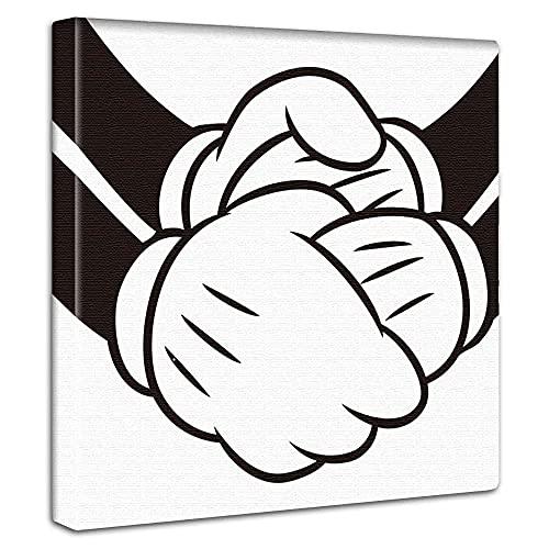 ディズニー ミッキーマウス アートパネル 30cm × 30cm 日本製 ポスター おしゃれ インテリア 模様替え リビ...