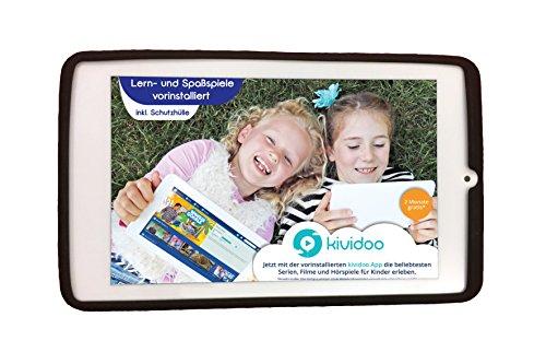 playZ Kids Tablet 20776 - Kindertablet mit 2 Monaten Kividoo kostenfrei, schwarz