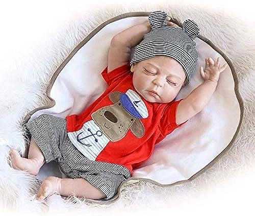 ealistic Baby Baby, handgemachtes Reborn-Baby-mädchen schlie  Silikon-Vinyl realistische Baby-Puppe 5cm Geburtstagsgeschenk ab