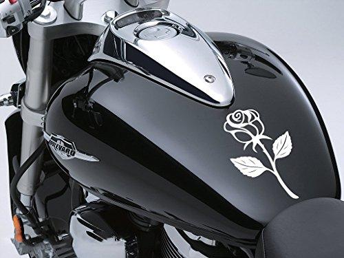 Rose Sticker Moto Réservoir à carburant voiture en 100 mm x 170 mm – Blanc/Rose