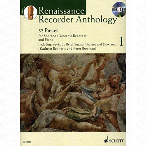 Renaissance Recorder Anthology 1 - arrangiert für Sopranblockflöte - Klavier - mit CD...