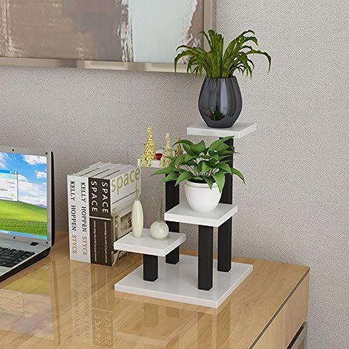 Potplant Holder, Planken Desktop Bloempot Display Rack 3 Tiers, Ladder Design, voor studie Bureau Decoration,B