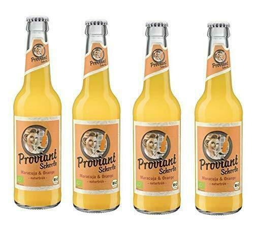 12 Flaschen Proviant Schorle Maracuja & Orange naturtrüb a 0,33l Bio inc. 0.96€ MEHRWEG Pfand