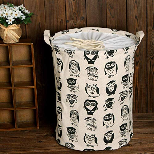 BASKET Laundry Hampers Owl Laundry Hampers with Handle Large-Capacity Collapsible Easy to Carry Suitable for Bedrooms Laundry Room Organizer