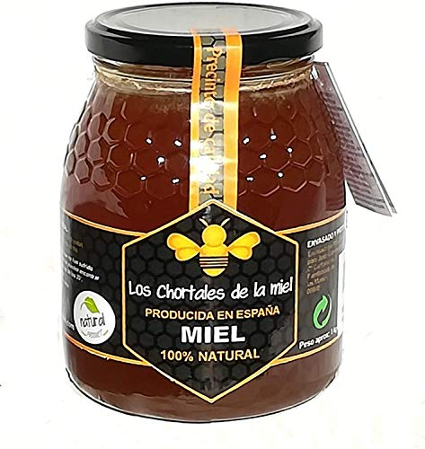 Miel pura de Extremadura 1 kg. Producida en España, sin aditivos, 100% natural. Altísima calidad, directa del productor