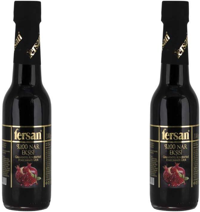 Sirope de granada 100% concentrado de granada (Nar Eskisi) 330 ml de Fersan (paquete de 2)
