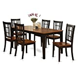 7 Pc formal Dining room set-Dining Table and 6 Chairs for Dining room