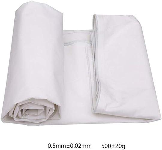 ZXZXI Bache De Plein Air Camping Couverture Polyester Baches Coupe-Vent Imperméable Camping De Plein Air Voyage (Couleur   blanc, Taille   5x4m)