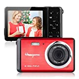 Digital Camera for Beginners 2.8' LCD 12MP Rechargeable Digital Camera, Point and Shoot Digital Cameras for Kids/Teenagers/Students (Red)