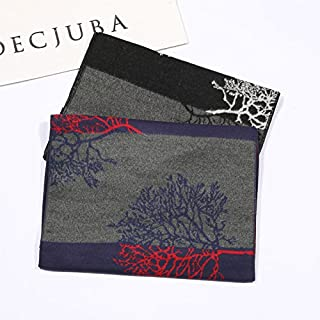 Scarves for men Men's Wool Blend Knitted Scarf Soft Warm Cashmere Feel Neckwear Elegant GiftGifts Parties Scarf (Color : O...