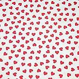 Pingianer 11,99€/m Herz Herzen 100% Baumwolle