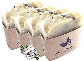 (4 Pack) Sheer Organix Luxury Rejuvenative Handmade Herbal Soap, 3.52 oz. / 100g, Daphne