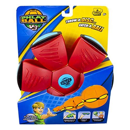 Goliath Sports Phlat Ball V3 Solid Red/ Blue Bumper