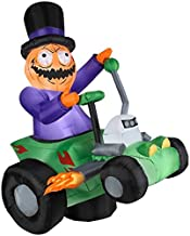 6' Airblown Jack's Ride with Pumpkin Man Halloween Inflatable