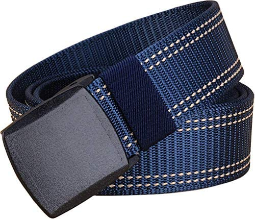 Mens Belts Web Work Belt for Men Women with No Metal Plastic Buckle Durable Breathable Sport product image