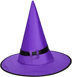 Glowing Witch Hat Decorations,Halloween Costume Cosplay Wicked Witch Accessory Adult Cosplay Party Props