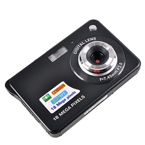 Stoga Black Mini Camera, 2.7 inch, built-in flash