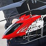 Moerc Grandesco al aire libre 80 cm RC helicóptero con Gyro LED Radio de radio Control remoto 3.5 Canales Helicóptero Boy Toy Aircraft Aircraft Niños Drone Principiante Fácil de operar para niños y ad