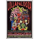 Sanwooden Lollapalooza Music Festival Poster Dekorative