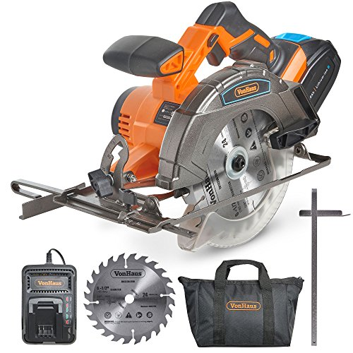 "VonHaus 20V MAX Cordless Circular Saw 6-1/2"" with Brake..."