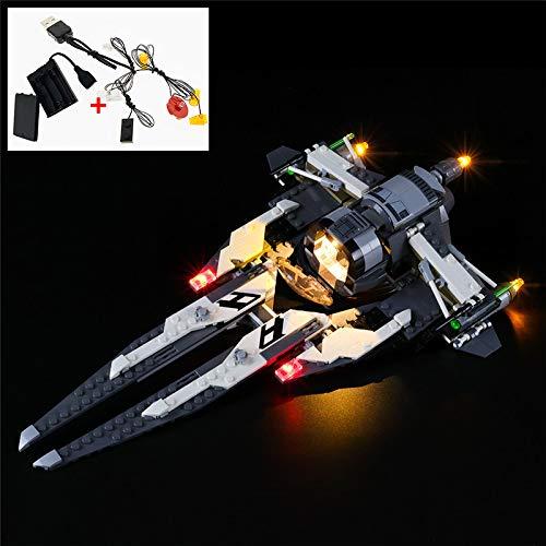 LODIY Beleuchtung Lichtset für Lego Star Wars 75242 Tie Interceptor Allianz-Pilot, LED Beleuchtungsset Kompatibel mit Lego 75242 (Nicht Enthalten Lego Modell)