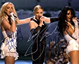 Britney Spears & Madonna & Christina Aguilera Autograph Signed 8 x 10 Photo