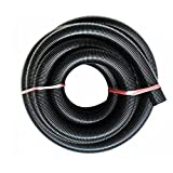 Accesorios de aspiradora/de aspiradora industrial Manguera de aspiración EVA Tubo roscado 1M / FLISE Diámetro interno de 20 mm Diámetro exterior de 20 mm.-Negro 20 diámetro interno 27