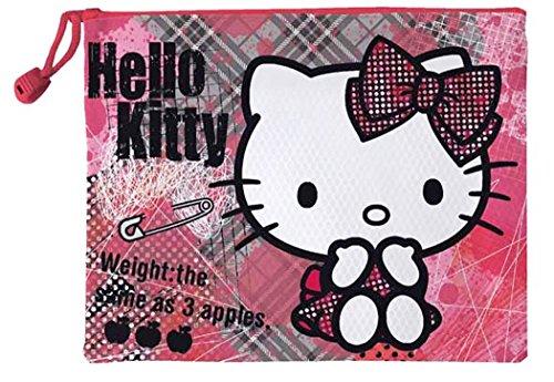 Hello kitty Trousse de toilette imperméable enfant fille Rose/gris 21cm