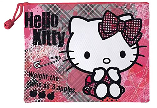 Hello kitty Trousse de toilette imperméable enfant fille Rose/gris 21cm