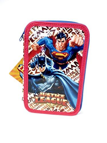 Batman vs Superman Astuccio 3 Zip Justice League
