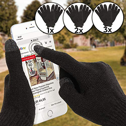 Jago - Guanti touch screen, taglia unica