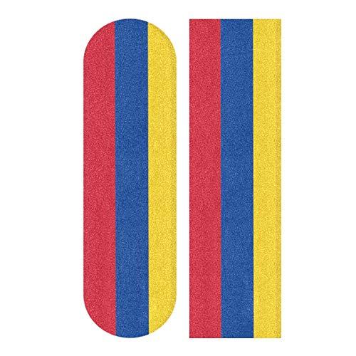 All3DPrint Columbien-Flagge Skateboards Longboards Griptape Griptape Griptape 22,9 x 83,8 cm