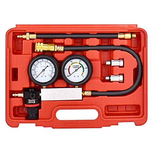 FAERSI Cylinder Leak Detector - Engine Compression Diagnosis Tester Kit - Cylinder Leakage Pressure Detector Test Set for Piston Ring, Valve, Head Gasket