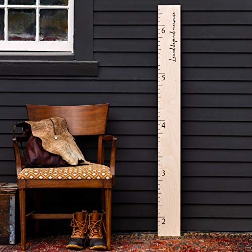 Natural Wood Boho Farmhouse Wooden Ruler Growth Height Chart (Loved Beyond Measure)
