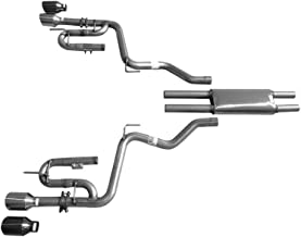 993137SL Cat Back Exhaust Kit for 2015-2019 Mustang V6 3.7L Mach X-J by Solo Performance Compatible with Ford Mustang V6