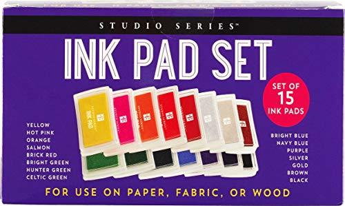 Compare Textbook Prices for Studio Series Ink Pad Set 15 colors  ISBN 9781441334718 by Peter Pauper Press