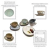 Sänger Kaffeeservice Athen aus Steingut 12 teiligfür 4 Personen - Füllmenge der Tassen 300 ml - Becher Set im Vintage-Stil mehrfarbig, Geschirrset, Porzellanservice - 2