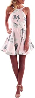 ab6e48db0679 Sunward 2017 Women Fashion Summer Full Print Backless Mini dress Sundress