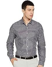 قميص رجالي رسمي من القطن بتصميم مربعات ومتقلب من Diverse