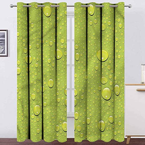 """Living Room Curtain Abstract Bedroom Curtains Window Treatment Drops on Colorful Backdrop for Studyroom 2 Grommet Top Curtain Panels,38"""" W x 45"""" L"""